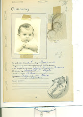 My birth, christening, lock of hair