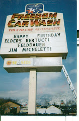 AT CORNER, MAN ANNOUNCED BIRTHDAYS ON THE MARQUEE