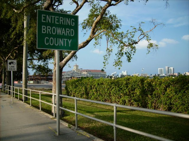 Entering Broward County, May 8, 2008