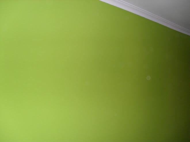 parede verde tecto branco