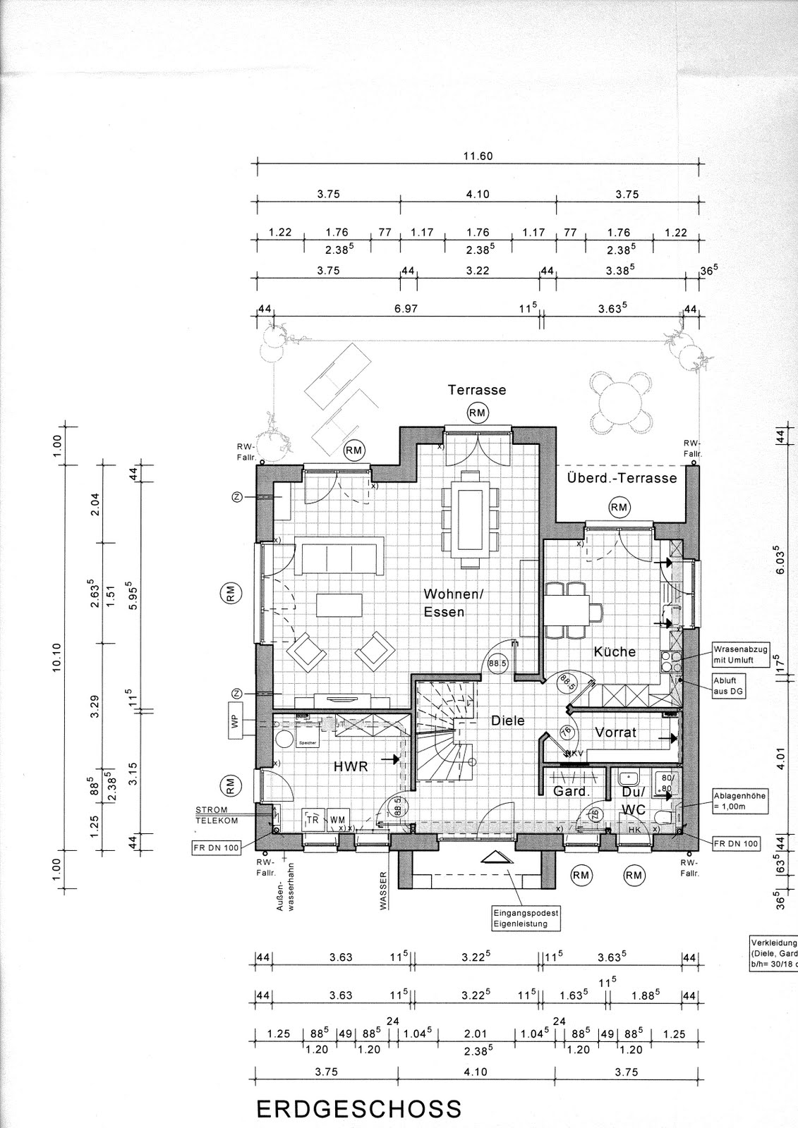 Grundriss haus bemaßung  Projekt Hausbau Maxime700: Grundrisse Haus