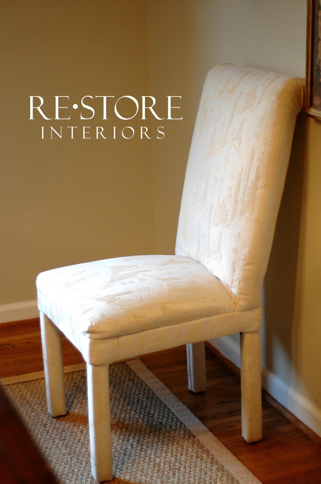 parson chair slip cover