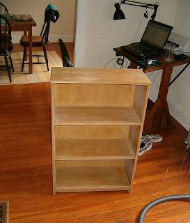 Peppermags DIY Decoupage Bookshelf