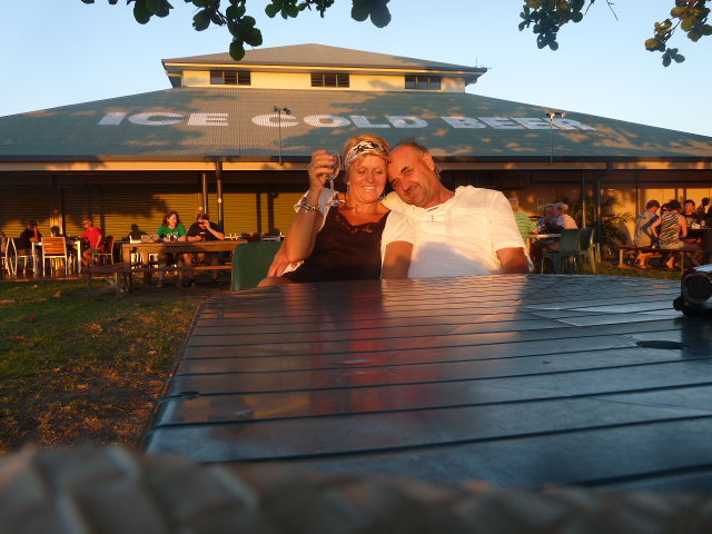 US WATCHING THE SUNSET OVER THE GULF OF CARPENTERIA  ..KARUMBA QLD
