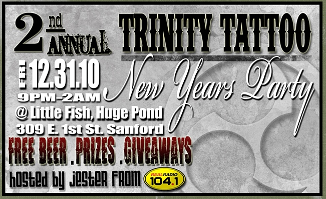 The second annual Trinity Tattoo New Years Even Party will be hosted by