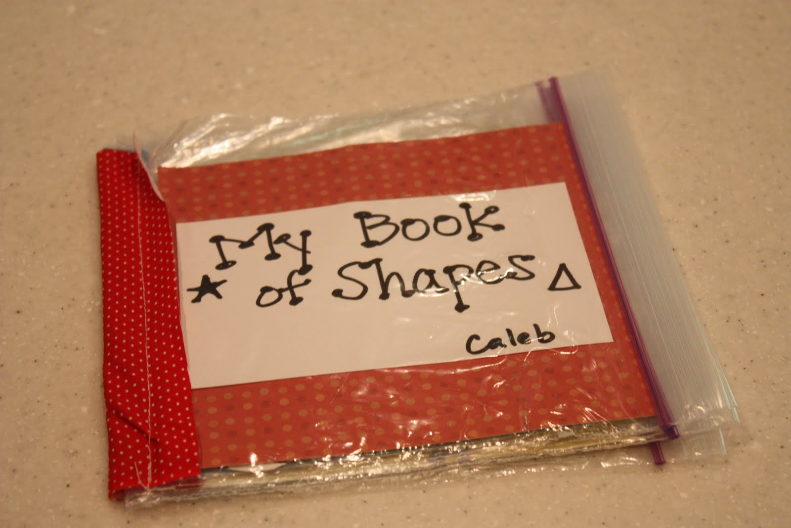 Ziploc My Shapes Book I Can Teach My Child