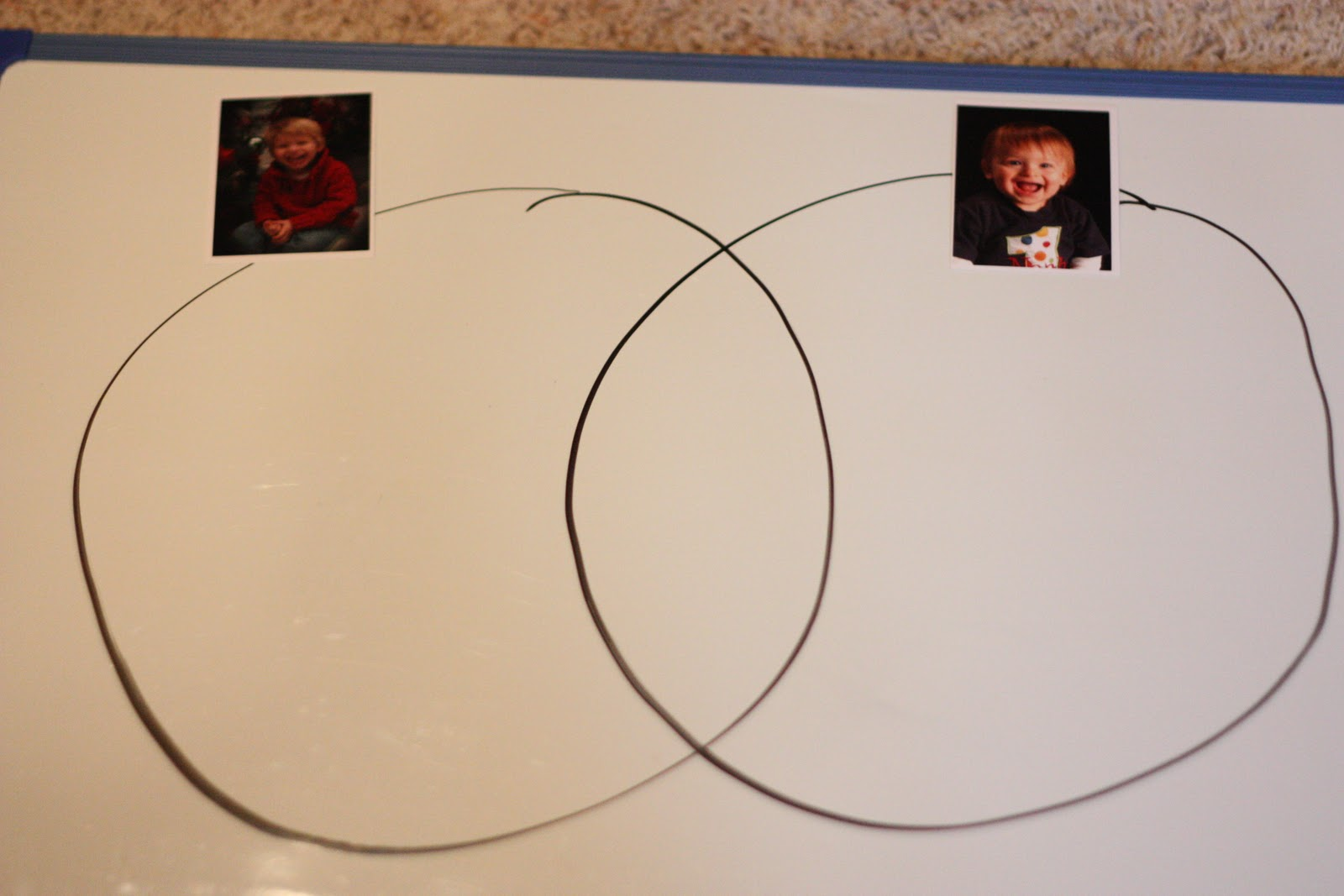 Venn diagram with letters i can teach my child board or just a piece of paper draw two intersecting circles as shown above if youd like even more of a visual put a picture of two children pooptronica