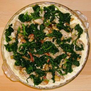 Quiche de Frango com Cogumelos e Espinafres 10