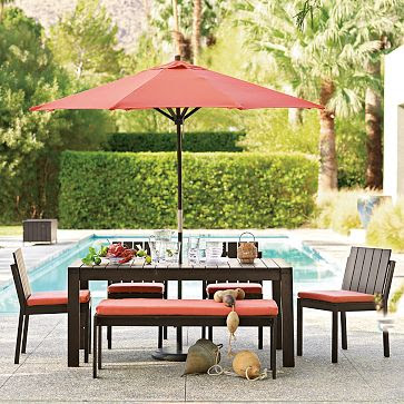 The design geek the daily tip for Restoration hardware outdoor umbrellas