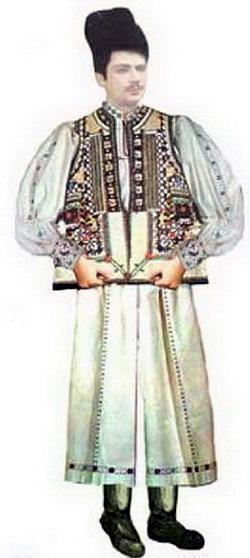 Costum tradițional bărbătesc Zona Huedinului