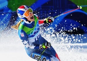 Lindsey Vonn Wins Bronze Medal in Womens Super G Downhill 2010 Winter Olympics