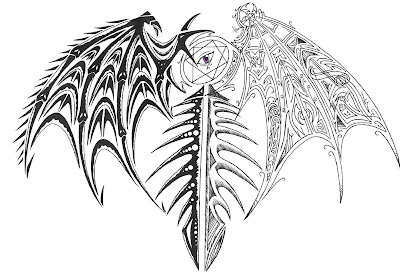 Angel Wings tattoo design,
