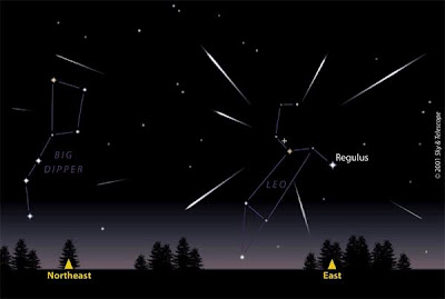 Leonid meteor shower.