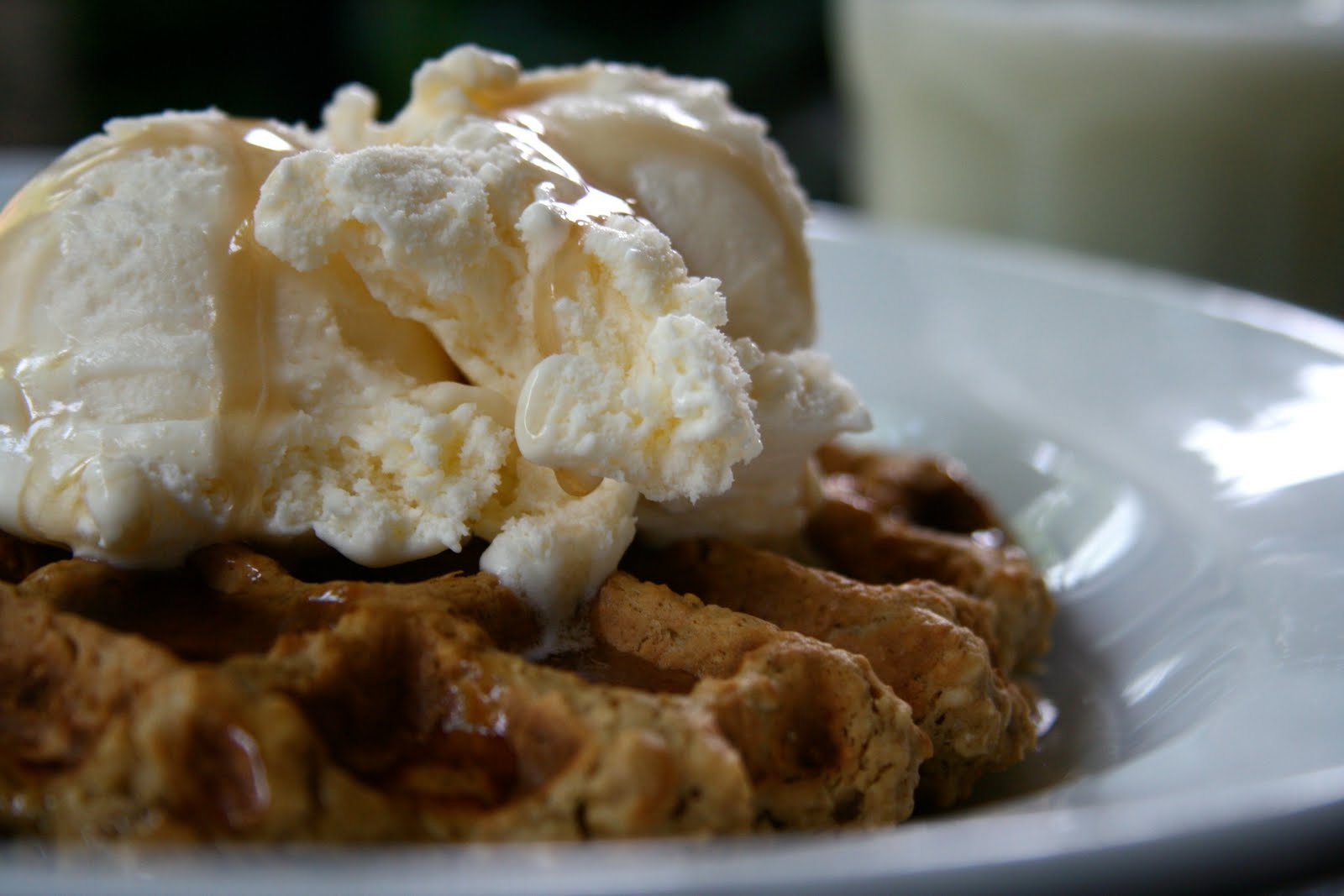 Celebration Dinner and Oatmeal Peanut Butter Waffles!