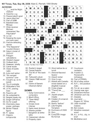 go to the crossword puzzle
