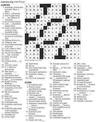 australia crossword.