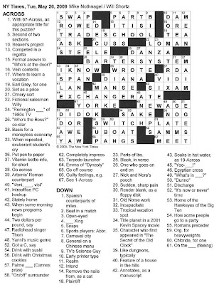 The new york times crossword in gothic may 2009 052609 its a deal spiritdancerdesigns Images
