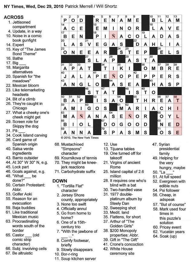 Cook Island Carving Crossword