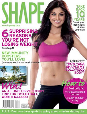 Shilpa shetty Hot Photoshoot for Shape Magazine