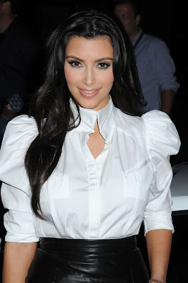 Kim Kardashian In White Top And Black Skirt Looked Perfect