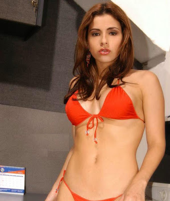Aheli Looking Hot in RED Bikini