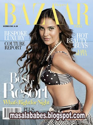 Lara Dutta Hot Harpers Bazaar Photoshoot