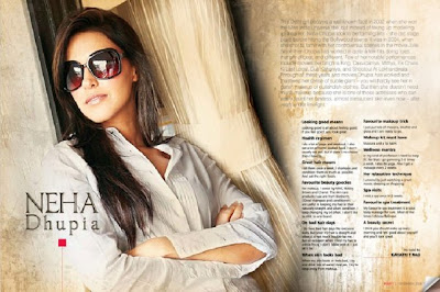 Neha Dhupia Sizzles on Beauty Magazine