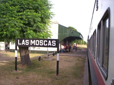 La estación vista desde el tren
