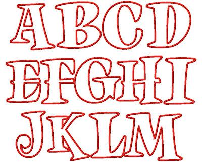 Applique Letters on Pinterest