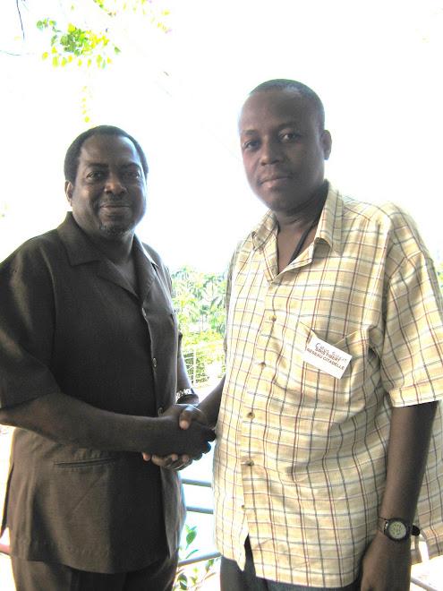L'Ambassadeur Earl Stephen HUNTLEY de CARICOM et Cyrus SIBERT de RESEAU CITADELLE