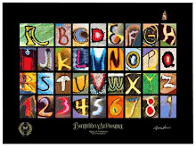 Alfabeto e números encontrados em asas de borboletas.