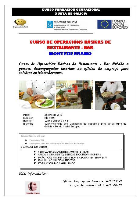 Blog do telecentro biblioteca de esgos curso de for Oficina de emprego galicia