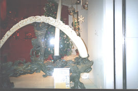 """Wooly Mammoth tusk carving"" at a Tsim Tsha Tsui shop."