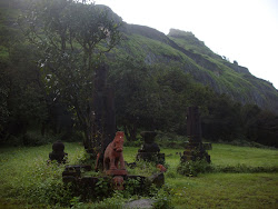 """Shreevardhan Fort"" as seen from Rajmachi Plateau  near Kalbhairavnath Temple."