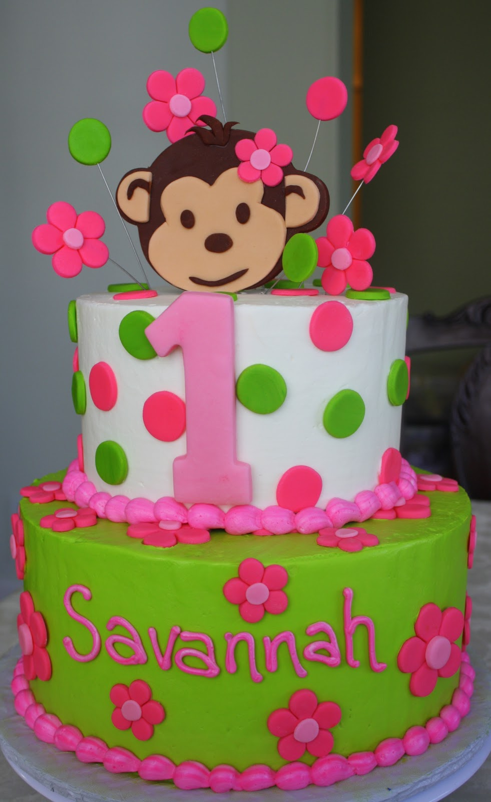 1st Birthday Decorations Monkey Image Inspiration of Cake and