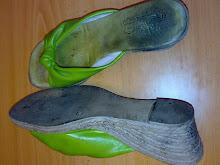 zapatos de cuña esparto verde 100