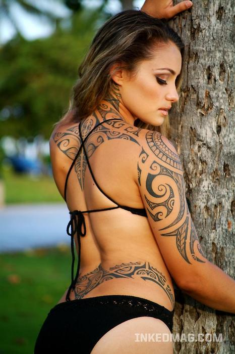 Polynesian Tribal Tattoo Designs Women