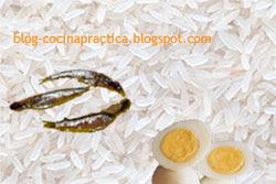 Ingredientes principales de la Receta de Cocina de arroz ancho