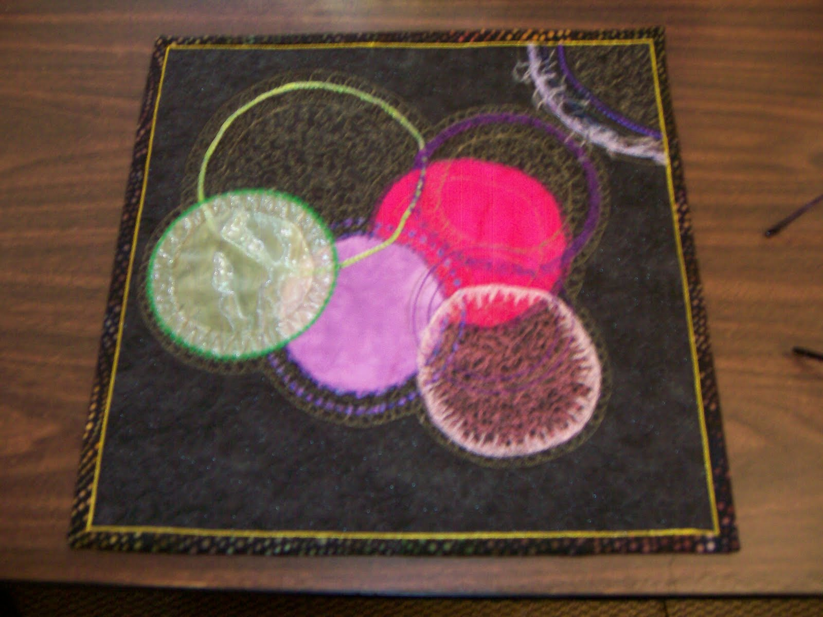Nancy Cluts Art Quilts Circle This With Libby Lehman