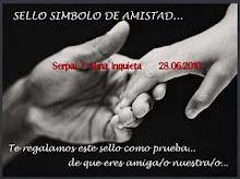 SELLO SIMBOLO DE AMISTAD