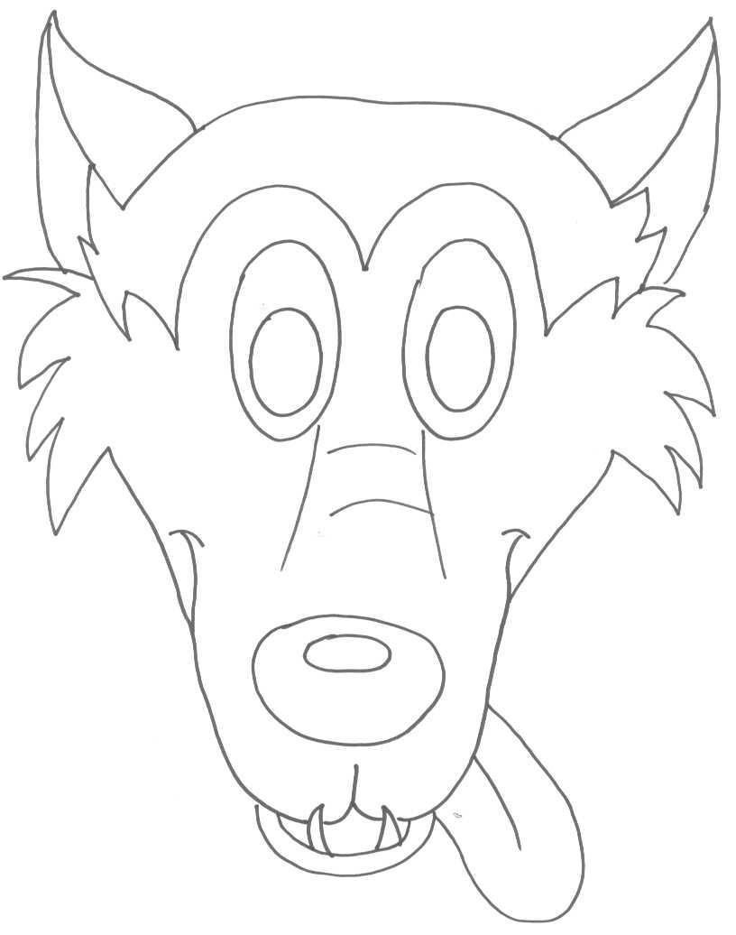 Molde de mascara de lobo - Imagui