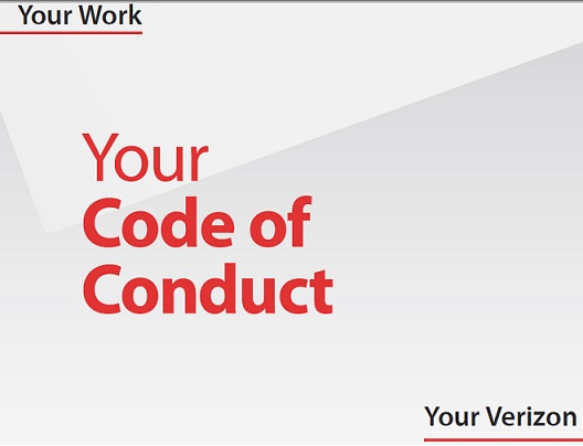 verizon code of ethics #8722 on at&t, sprint, t-mobile, and verizon to call by usaa board of directors code of conduct usaa code of business ethics and conduct start of content.