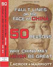 FAULT LINES on the FACE of CHINA: 50 REASONS WHY CHINA MAY NEVER BE GREAT