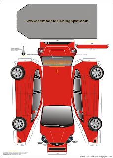 Brinquedo de Papel - Honda Fit
