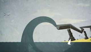 imagem de uma onda gigante