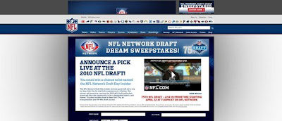 Visit NFL.com draftsweeps website for Draft Dream Sweepstakes