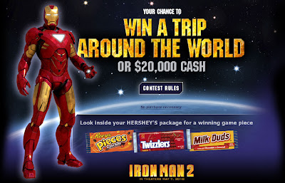 Hersheys.com/movietheater, Trip Around the World Instant Win Game