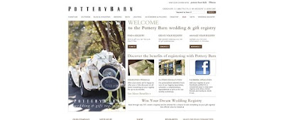 Potterybarn.com/registry, Pottery Barn Dream Wedding Registry