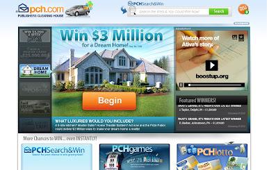 PCH $25,000 Cash Prize, www.PCH.com/cash