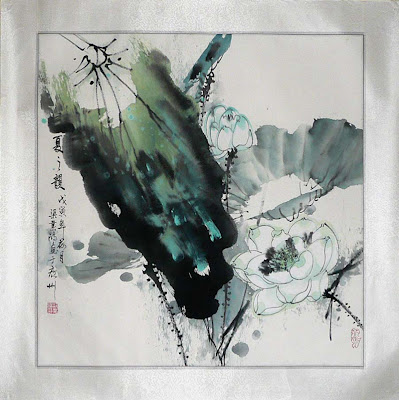 Un quadro del pittore cinese Liang Yehong - A painting by Chinese painter Liang Yehong